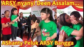 ARSY nyanyi Lagu Deen Assalam di depan Masyarakat Pontianak, Bunda Ashanty Bangga sambil cium ARSY
