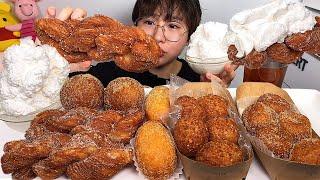 찹쌀도넛 모여라2 꽈배기 꿀도넛 찹쌀도넛 먹방 Dessert Mukbang