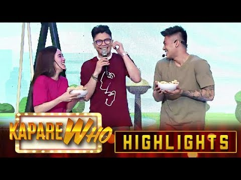 Ion and Jackque bring Vhong chicharon and kropek | It's Showtime KapareWho