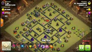 TH9 ANTI LAVALOON/GOBOLALOON | ANTI 3 STAR TH9 WAR BASE | TH10 FAILED REPLAY PROOF | Clash of Clans