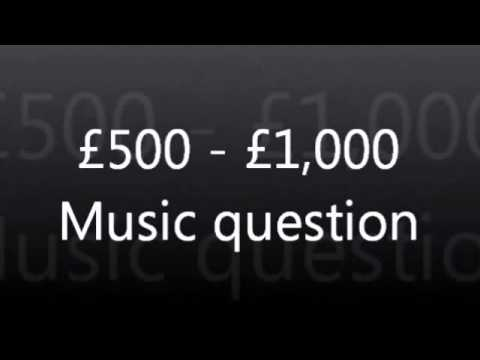 WWTBAM - £500 / £1,000 : Music question [UK 2007]