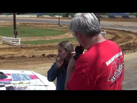 Shyann Bard in victory lane at Path Valley 6-25-17