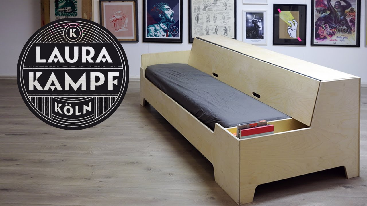 Clever Diy Sofa Bed Folds Out In 6
