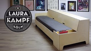 Clever DIY Sofa Bed - Folds out in 6 seconds!