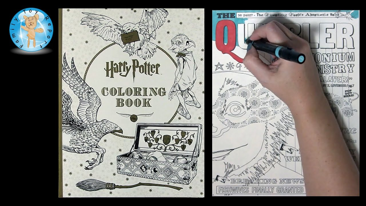 Harry Potter Coloring Book By Scholastic The Quibbler