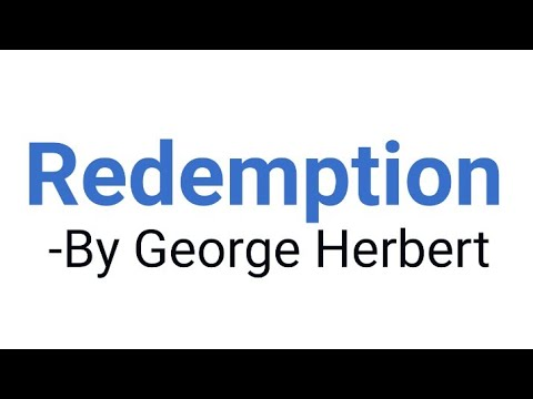 Redemption by George Herbert in Hindi [Analysis and line by line Explanation]