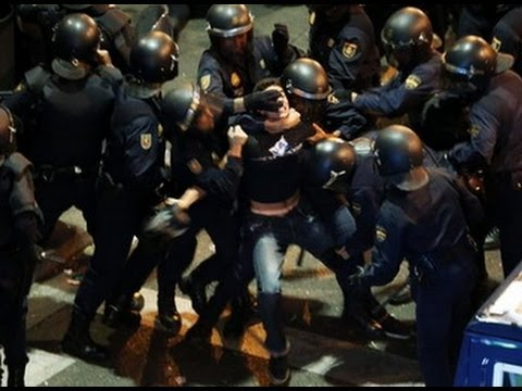 The most violent night in Madrid - 22M, Marches for dignity - Violencia