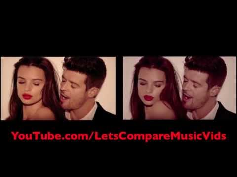 Robin Thicke featuring T.I. & Pharrell Williams - Blurred Lines [Comparison Video]