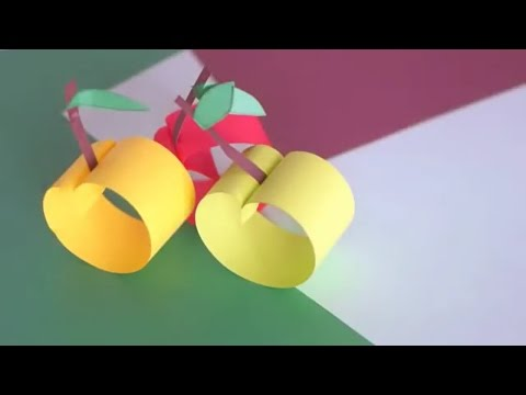 How to make paper apples ? Diy paper crafts by billi paper art 4 you