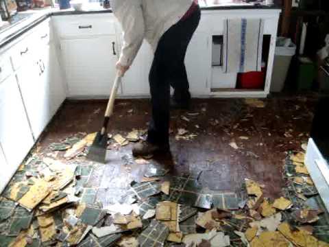Kitchen floor Replacement 003 (redux) - YouTube