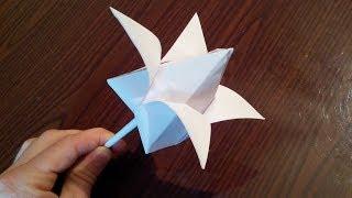 Как сделать тюльпан оригами, tulip origami (Marc Kirschenbaum)