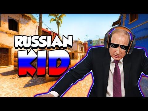 CRAZY RUSSIAN KID PLAYS CS:GO!