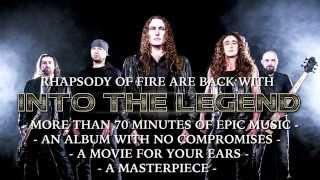RHAPSODY OF FIRE - Into The Legend (2015) / official trailer / AFM Records