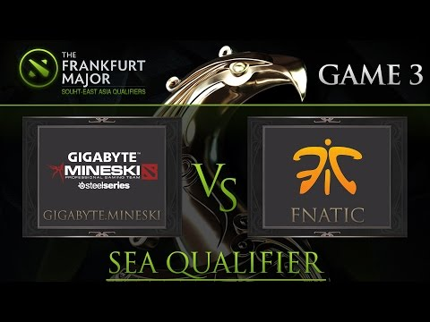 Dota2 : Mineski vs Fnatic Frankfurt Majors South-East Asia Qualifiers Game3 - DUNOO and LON