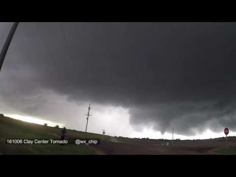 Clay Center, KS tornado timelapse (10/6/16 )