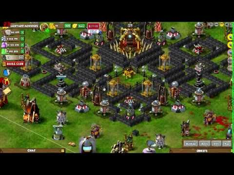 Backyard Monsters Base backyard monsters - my base, base layout, base building tips - youtube