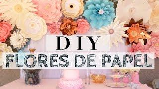 DIY - FLORES DE PAPEL paso a paso para cualquier evento especial- karely
