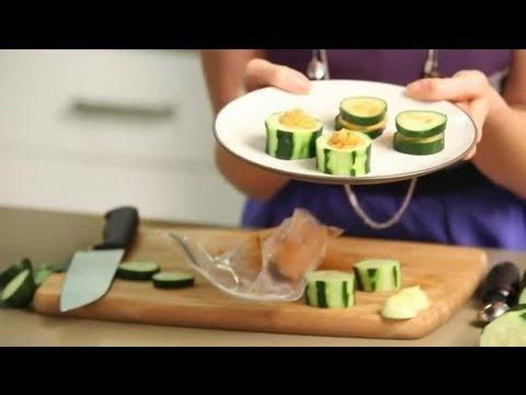 Healthy Snack With Hummus & Cucumber : Healthy Snacks