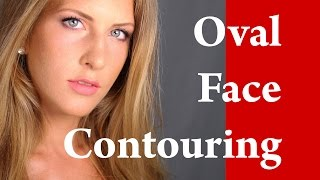 How to Contour LONG and OVAL shaped face makeup tutorial - Contouring and Highlighting Thumbnail