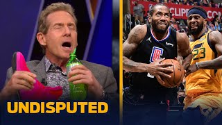 Skip Bayless breaks out the pink Kawhi's to celebrate Clippers' GM 4 win vs. Jazz | NBA | UNDISPUTED