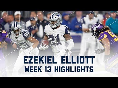 Ezekiel Elliott Pounds for 86 Rush Yards & 1 TD! NFL Week 13 Player Highlights
