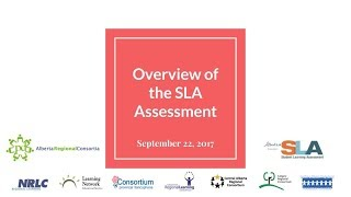 Overview of SLA  3 Assessment