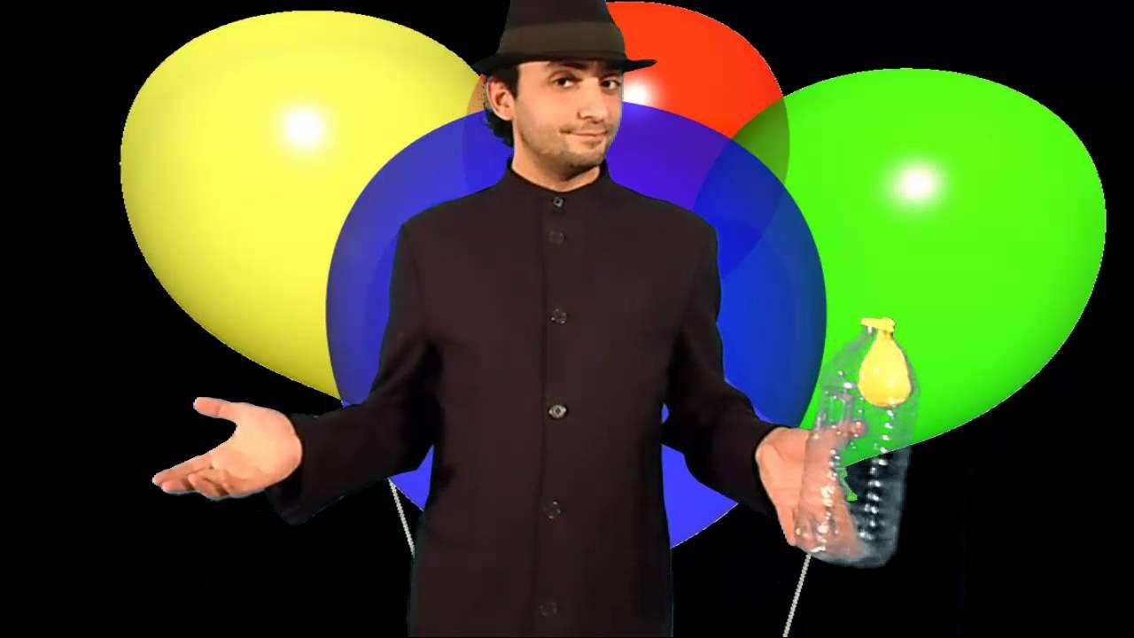 تعلم العاب الخفة # 238 ( حيلة ضريفة للاطفال بالبالون ) free magic trick