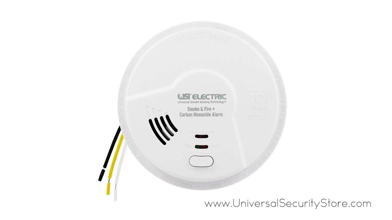 Usi 3 In 1 Hardwired Smoke Fire Carbon Monoxide Smart Alarm W