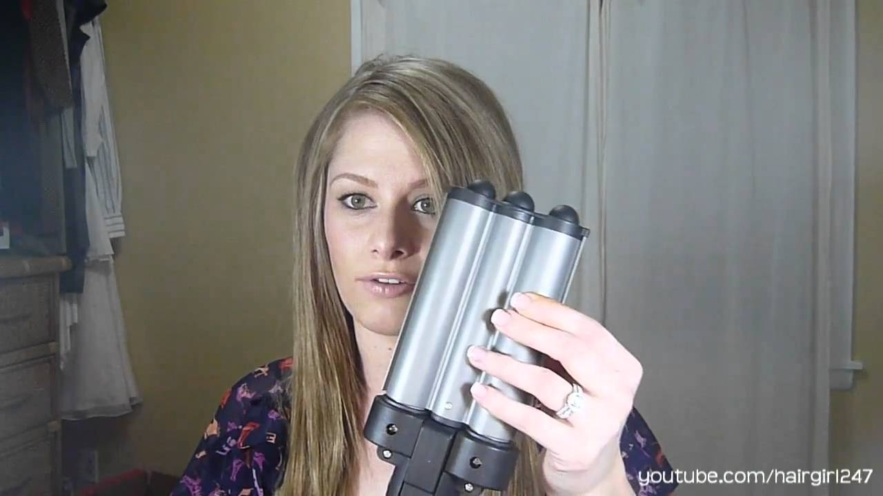 Revlon Jumbo 3 Barrel Ceramic Waver Review Youtube