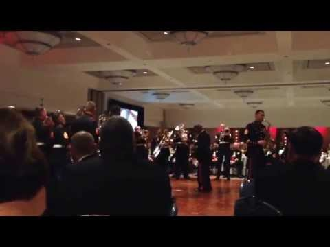 The 3rd MAW band performing Frozen at the 239th Marine Corps birthday ball ceremony