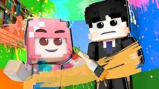 잉여맨 가족상황극 | '아빠랑 지하창고를 꾸며요!?' | 페인트모드 | 마인크래프트 Minecraft