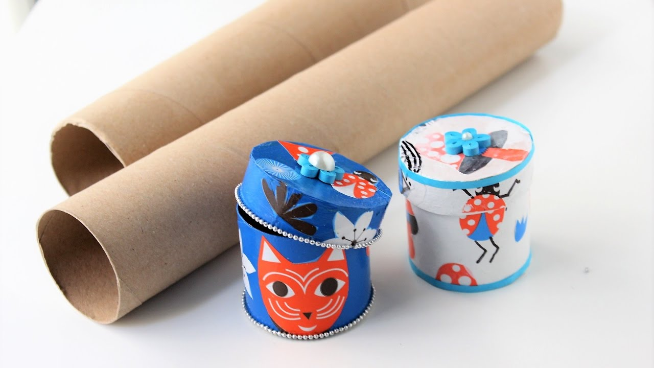 Gift box jewelry box out of empty paper rolls best out of for Things best out of waste