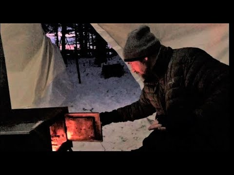 Winter Camping in the Atuk Kanguk Hot Tent