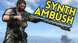 Fallout 4 - SYNTH AMBUSH - Ellen - the Cartographer (Quest Mod)