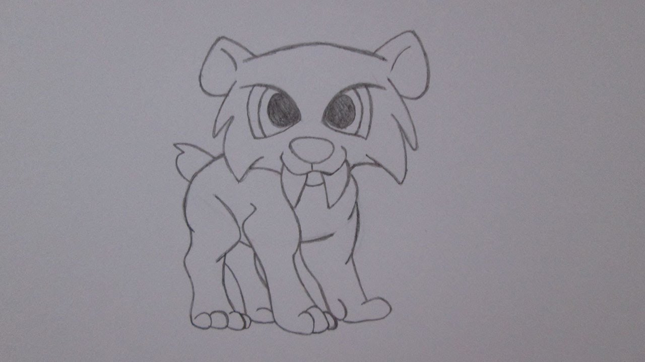 Cmo dibujar un tigre dientes de sable  YouTube