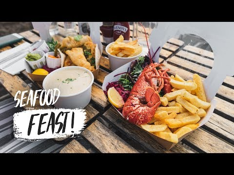 Trying The BEST SEAFOOD In SCOTLAND! - Fresh Lobster & Chips 🍽😍 (Fife, Scotland)