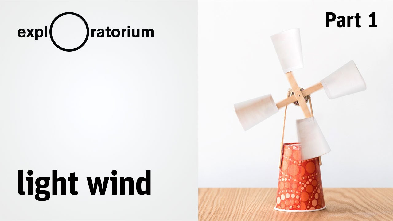 Easy diy wind turbine light wind science snack activity youtube solutioingenieria Image collections