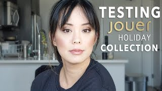 TESTING NEW HOLIDAY COLLECTION FROM JOUER COSMETICS