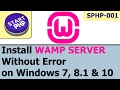 Installing WAMP Server on Windows without error to write PHP