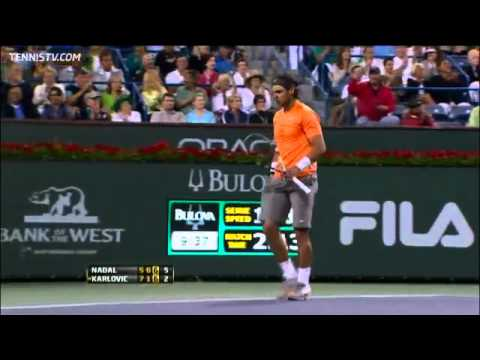 Nadal Defeats Karlovic In Indian Wells Quarter-final Highlights