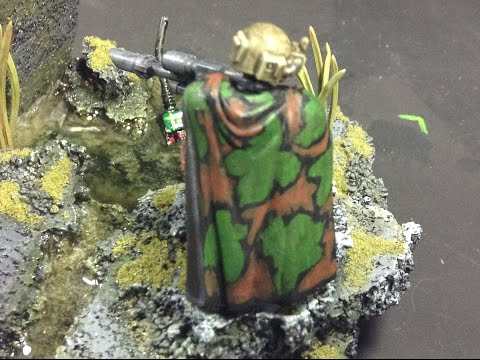How To Paint Camouflage! for Miniatures! - Commissar Gamza