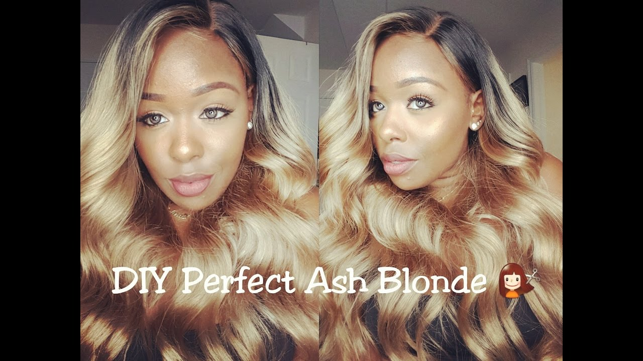 How to Slay your Wig |DIY Ash Blonde Hair| ft. Premierlacewigs.com ...