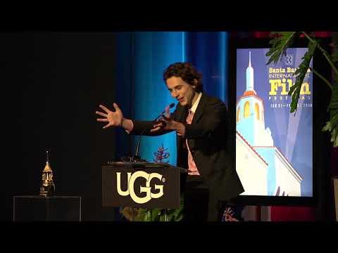 SBIFF 2018 - Santa Barbara Award - Timothee Chalamet Presentation & Saoirse Ronan Speech