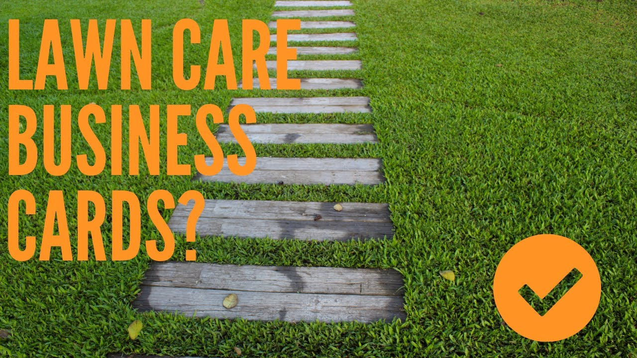 Where Should I Go To Print Lawn Care Business Cards? - YouTube