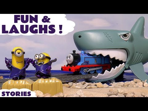 Fun and Pranks with Thomas and Friends Minions Disney Cars Toys & Prank Play Doh Halloween
