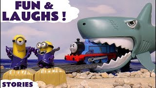 fun and pranks with thomas and friends minions disney cars toys prank play doh halloween