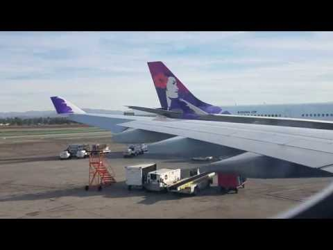 Hawaiian Airlines: Los Angeles to kahului, Maui, HI, full flight.