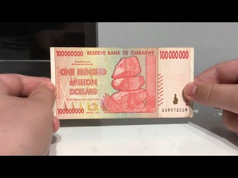 Demonetised Hyperinflation Money - 100 Million Zimbabwean Dollar Note! (100,000,000 Z$)