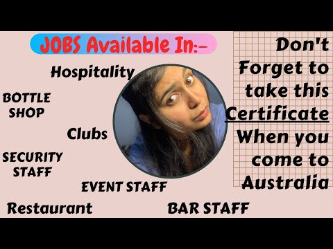How To Get RSA Certificate For International Student In Australia | RSA Course In Australia | Anjali