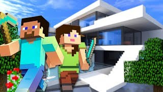 BUILDING OUR NEW HOUSE!! - MINECRAFT w/ MY BOYFRIEND